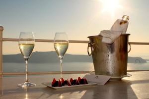 Sunset Champagne Santorini Funancials