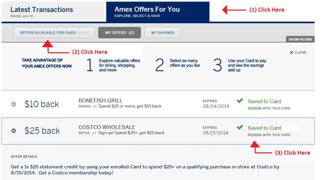 amex costco offer